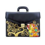 Borsa dipinta a mano – L'abbraccio di Klimt