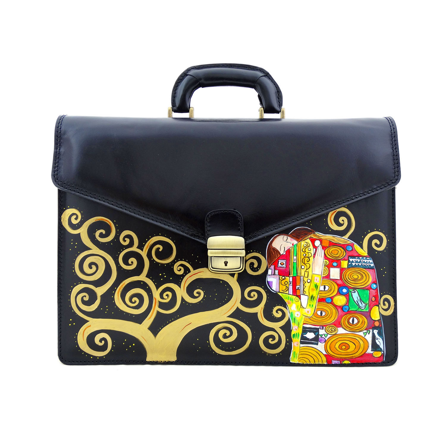 Hand-painted bag - The embrace by Klimt