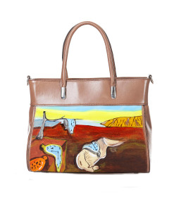 Handpainted bag - The Persistence of Memory by Dali