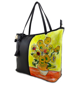 Handpainted bag - Sunflowers by Van Gogh