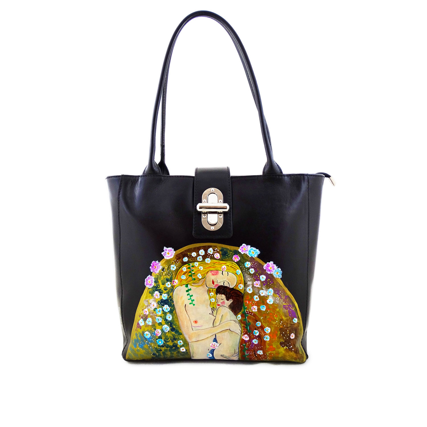 Handpainted bag - Mother and child by Klimt