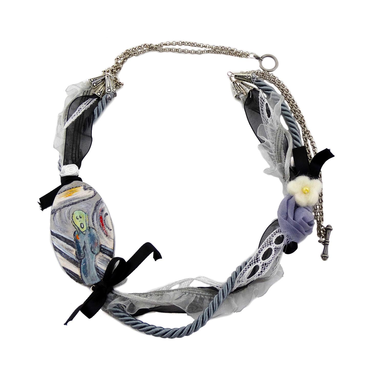 Collana dipinta a mano – L'Urlo di Munch