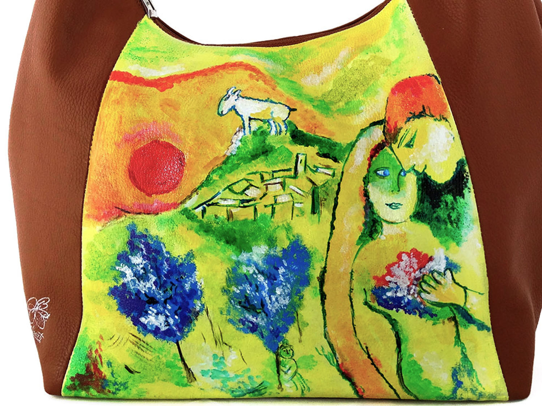 Borsa dipinta a mano– Gli amanti di Vence di Chagall