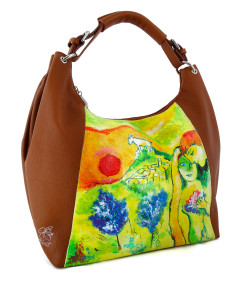 Handpainted bag - The lovers of Vence by Chagall
