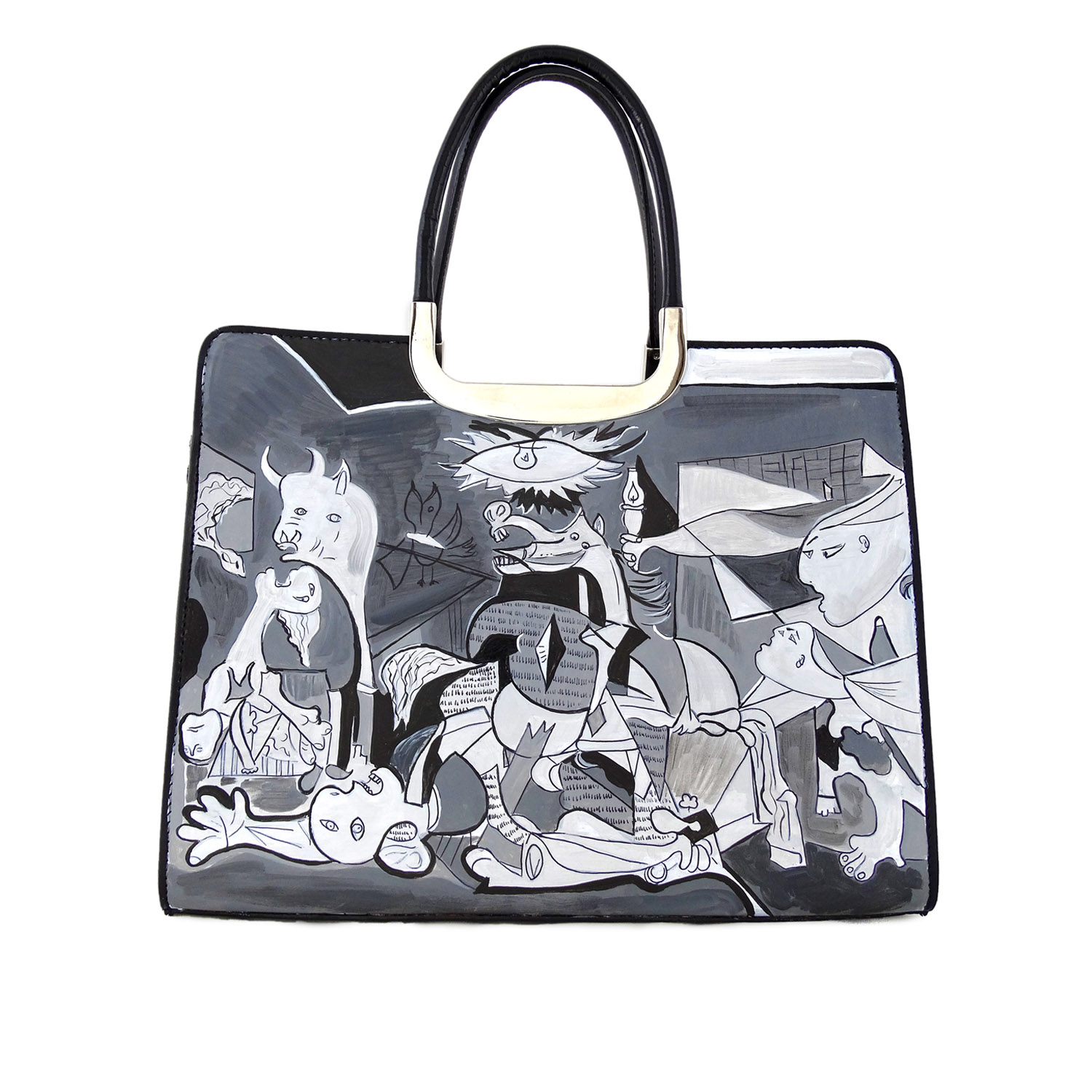 Handpainted bag - Guernica by Picasso