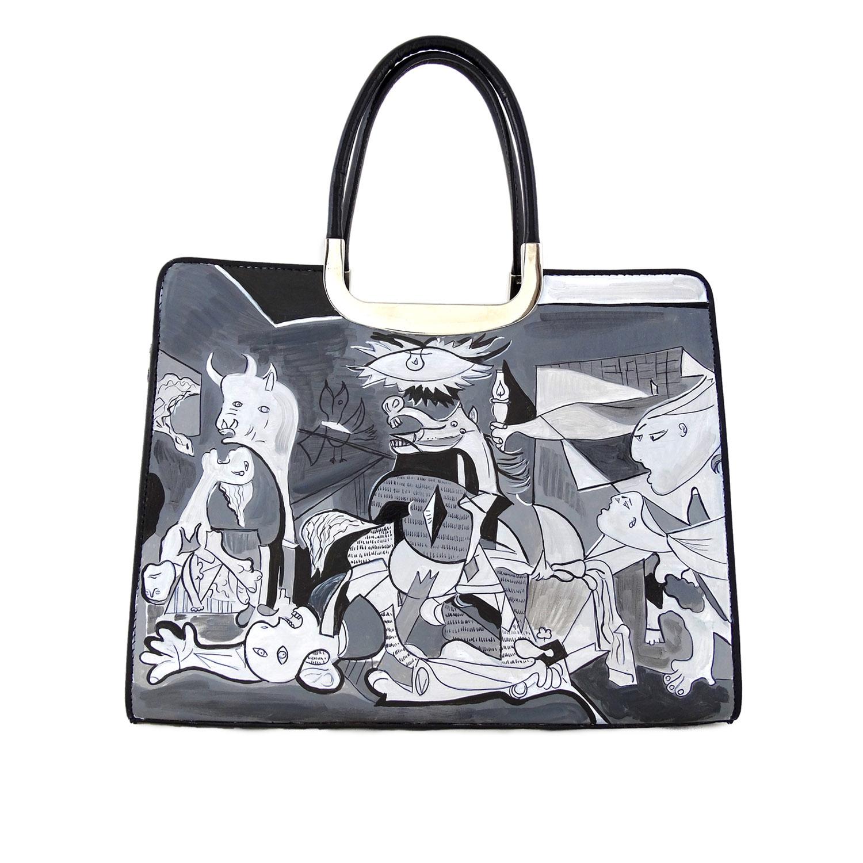 Borsa dipinta a mano – Guernica di Picasso