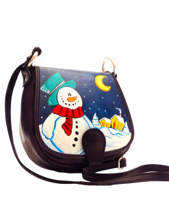 Handpainted bag - Snowman