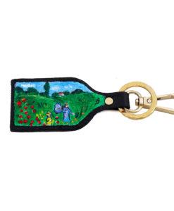 Portachiavi dipinto a mano – I papaveri di Monet