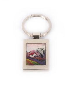 Portachiavi dipinto a mano Strada per Borre di Munch