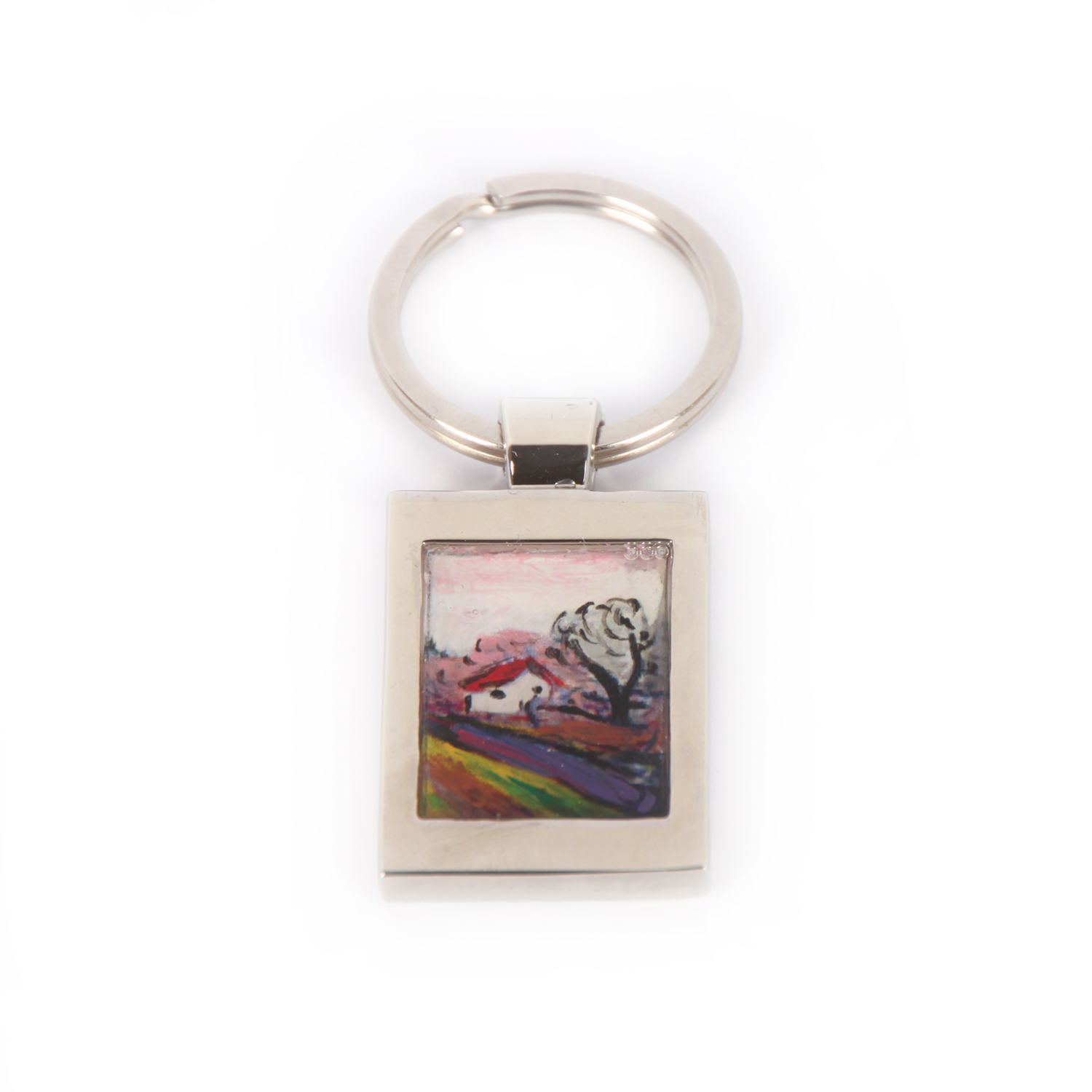 Hand painted keychain - Road to Borre by Munch