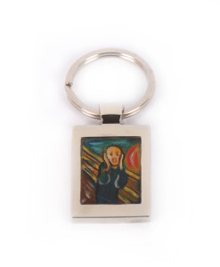 Portachiavi dipinto a mano L'urlo di Munch