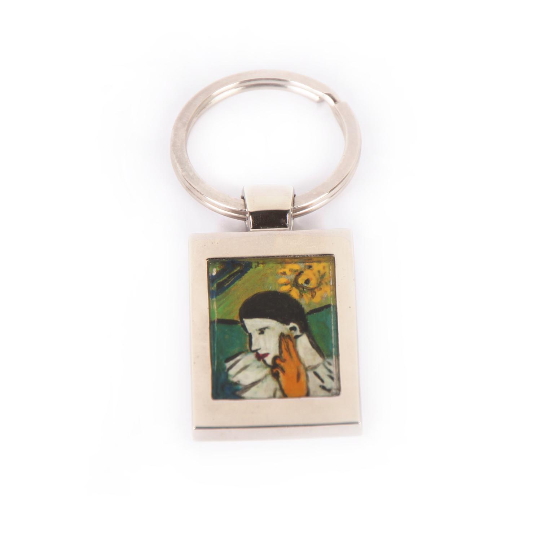 Portachiavi dipinto a mano – Arlecchino di Picasso
