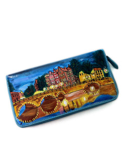 Portafoglio dipinto a mano – Amsterdam shining