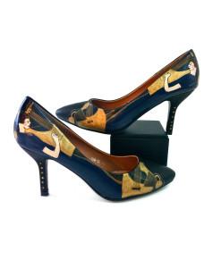 Scarpe décolletés dipinte a mano - La musica di Klimt