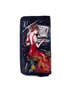 Portafoglio dipinto a mano – La signora in rosso di Boldini