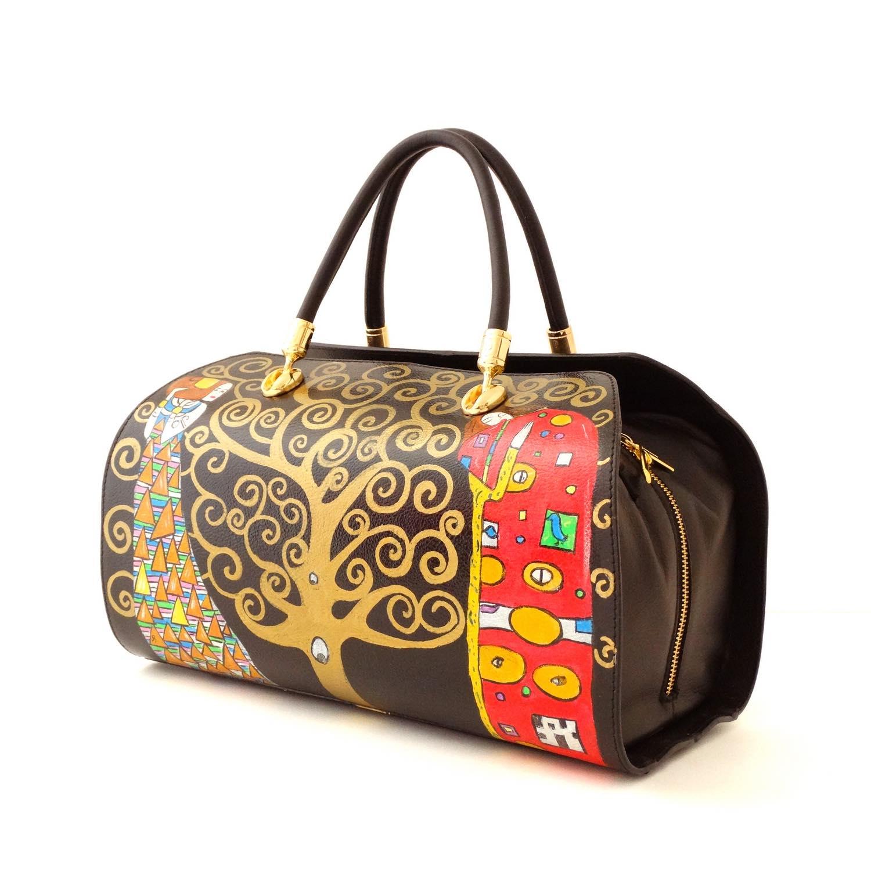 Borsa dipinta a mano – L'albero della vita di Klimt