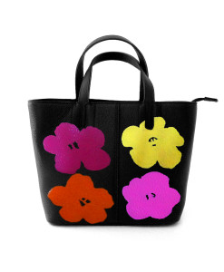 Hand painted bag - Flowers by Warhol