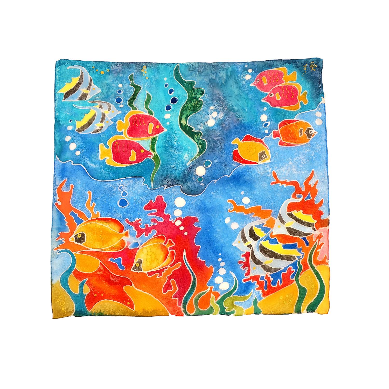 Foulard dipinti a mano – Emozioni Tropicali