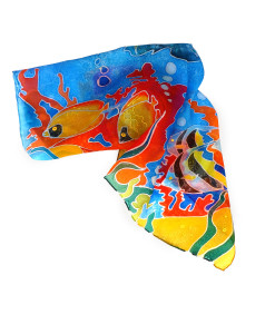 Hand painted headscarf - Emotions Tropical