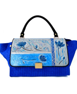 Hand painted bag - Blue Moments
