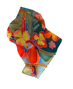 Hand painted headscarf - Tropicana