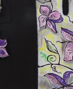 Borsa dipinta a mano – Fiori in color