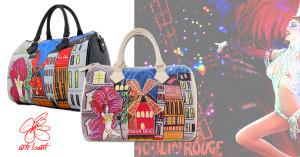 Borsa dipinta a mano - Moulin Rouge