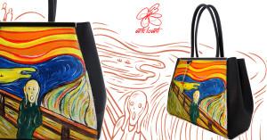 Borsa dipinta a mano - L' urlo di Munch