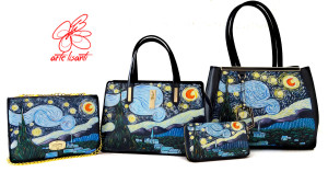 Borse dipinte a mano - La notte stellata di Van Gogh