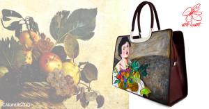 Borsa dipinta Fanciullo con canestro di frutta di Caravaggio