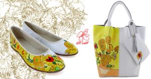 Borsa dipinta a mano - Girasoli, Linea Flowers