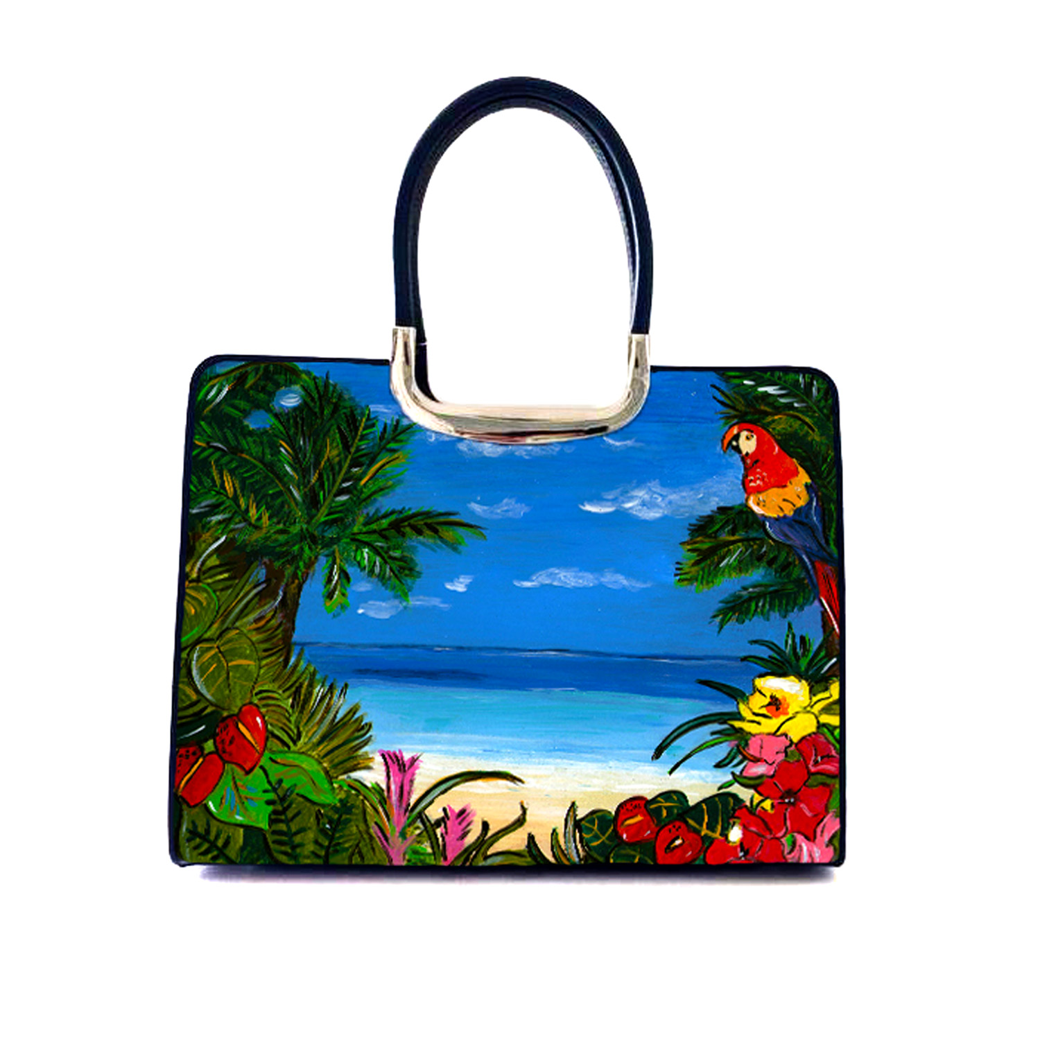 Hand painted bag - Tropicana