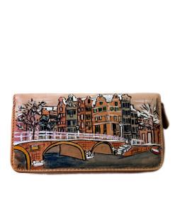 Portafoglio dipinto a mano – White Amsterdam