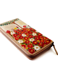 Hand painted wallet - Flowers field by Schiele