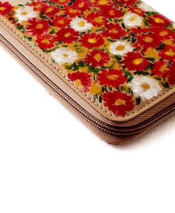 Portafoglio dipinto a mano – Campo di fiori di Schiele