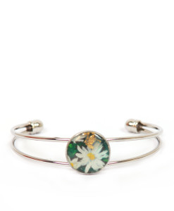 Hand-painted bangle - Daisy