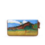 Portafoglio dipinto a mano – Paesaggio Tahitiano di Gauguin