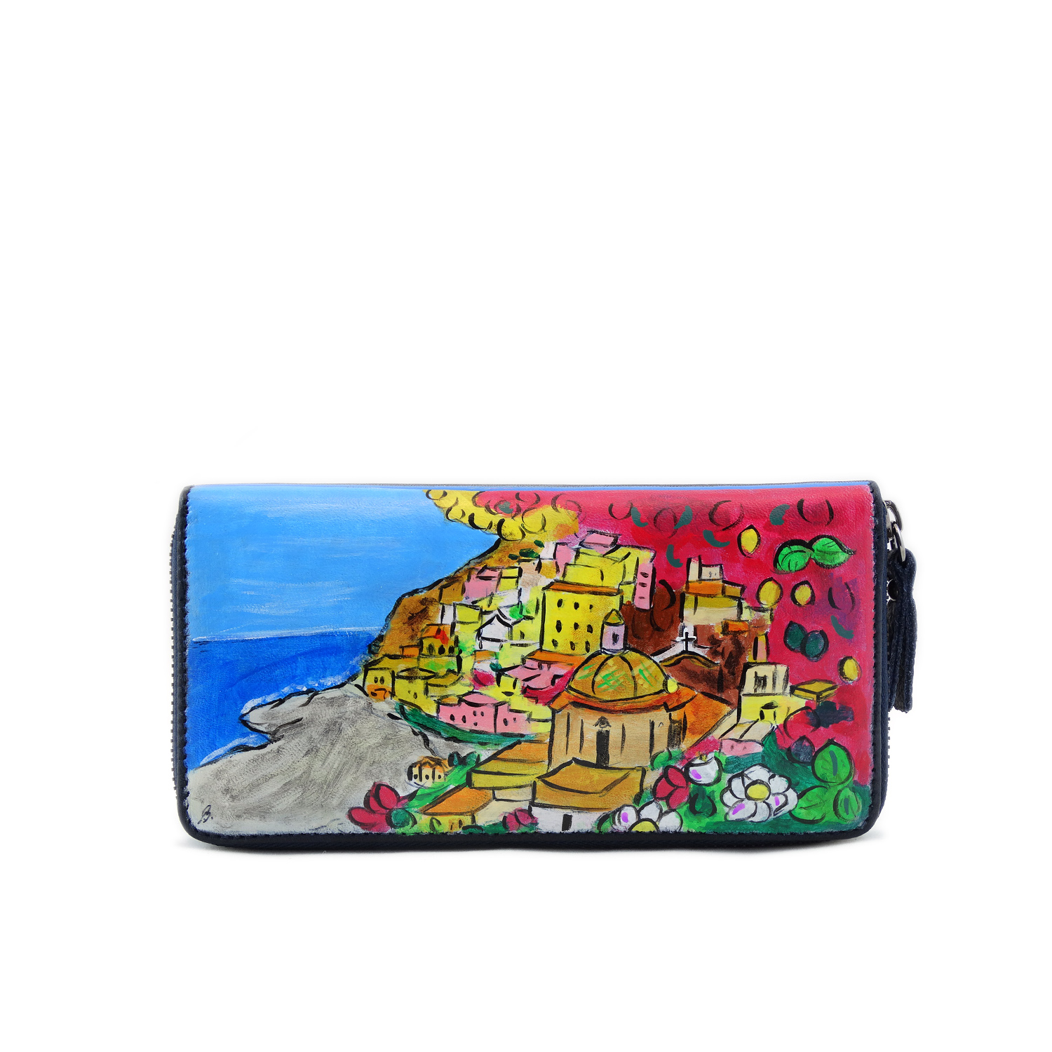 Hand painted wallet - Positano