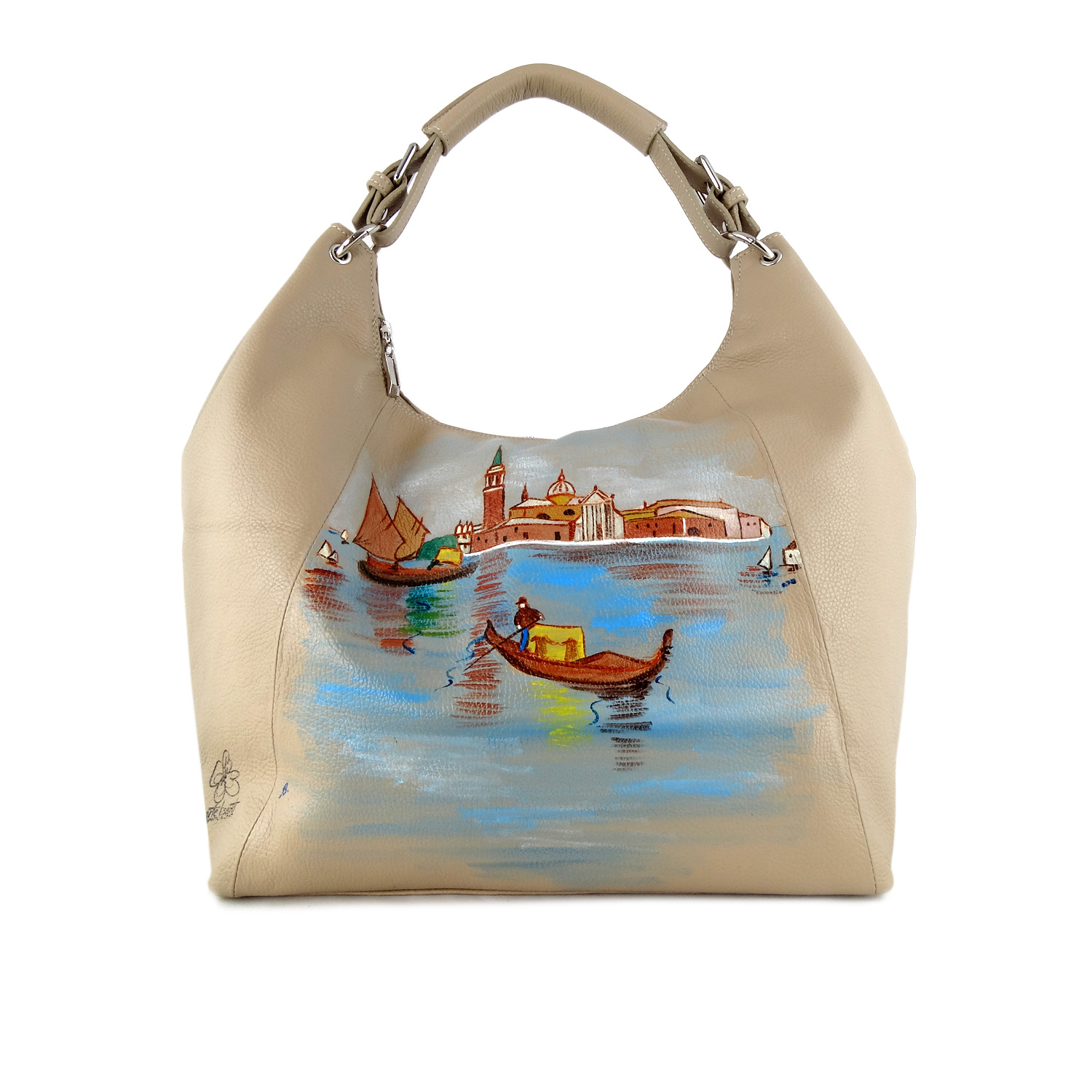 Hand painted bag - Venice