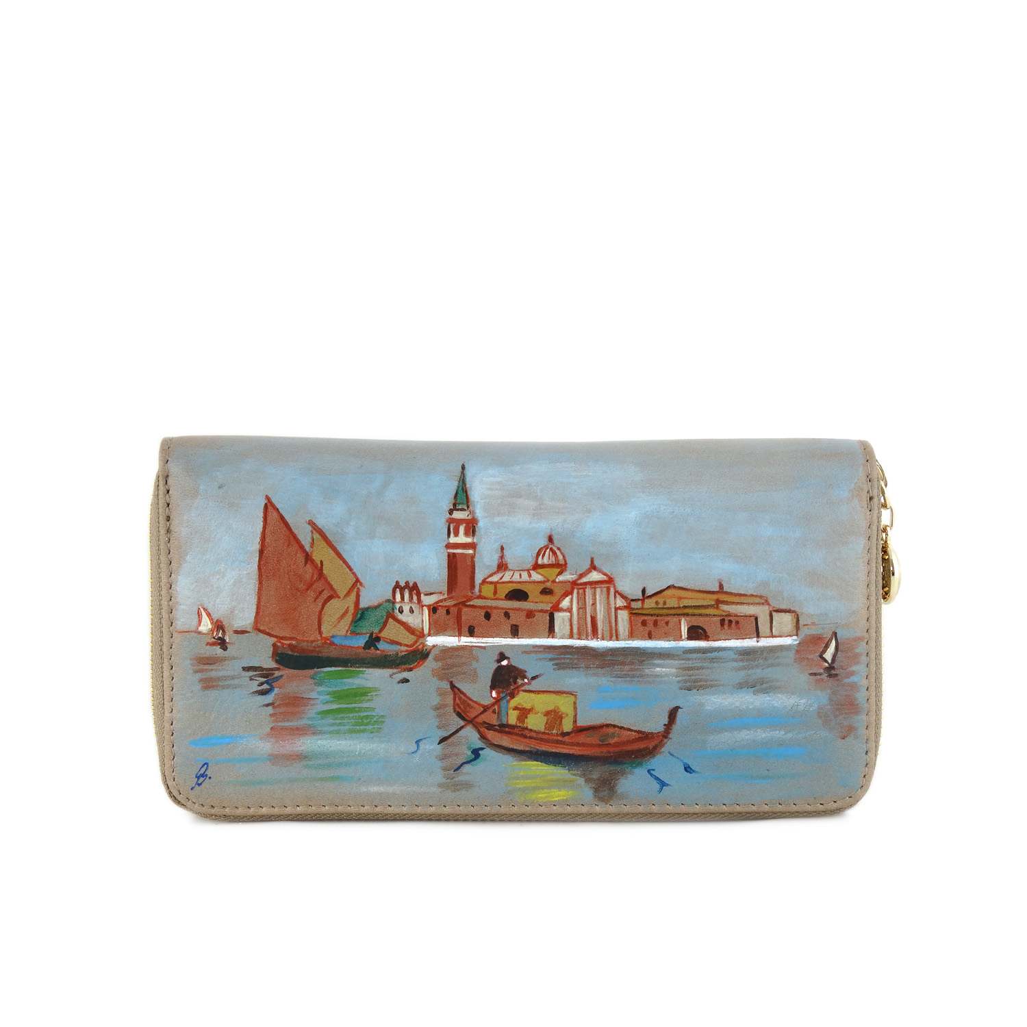 Hand painted wallet - Venice