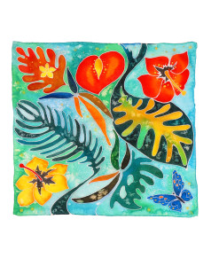 Hand painted headscarf - Paradise