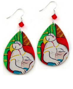 Hand painted earrings - The dream by Picasso