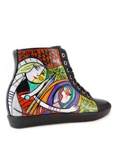 Sneakers dipinte a mano – Ragazza allo specchio di Picasso