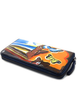 Hand painted wallet - Landscape with Butterflies by Dali