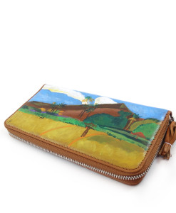 Hand painted wallet - Tahitian Landscape by Gauguin