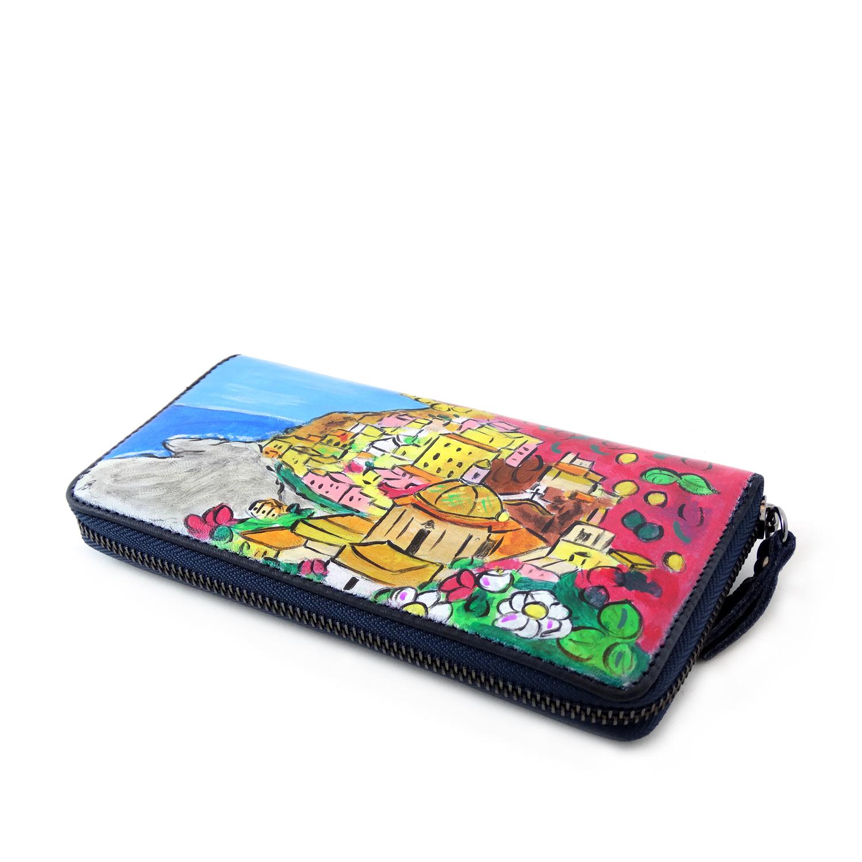 Hand painted wallet - Positano