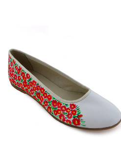 Hand-painted ballet flats - Field of flowers by Schiele