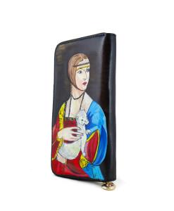 Portafoglio dipinto a mano – Dama con l'ermellino
