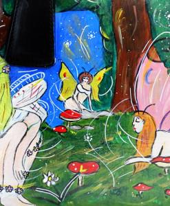 Borsa dipinta a mano – Il bosco delle fate