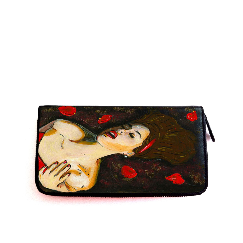 Portafoglio dipinto a mano – Lussuria